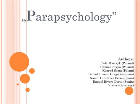Parapsychology group6