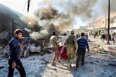 Car bomb kills at least 10 people near Syria's border with