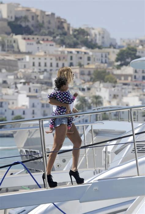 Blue Ivy Carter on a yacht in Ibiza with her parents