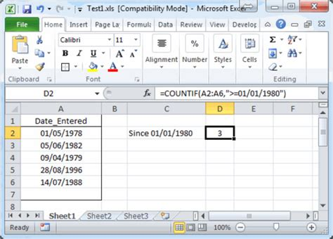 How to use the COUNTIF, COUNTIFS and SUMPRODUCT Worksheet