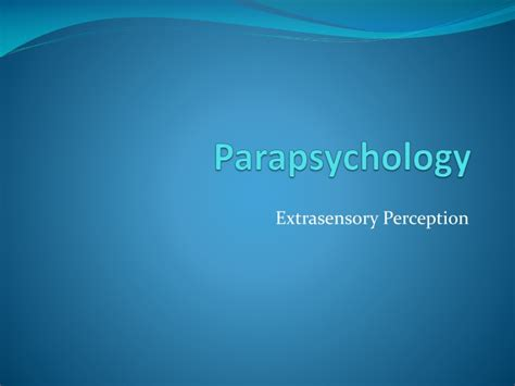 PPT - Parapsychology PowerPoint Presentation, free