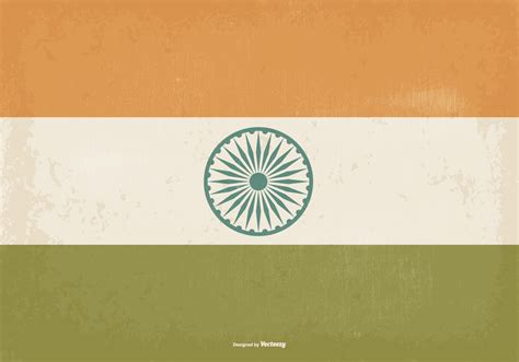 Old Vintage Style India Flag - Download Free Vector Art