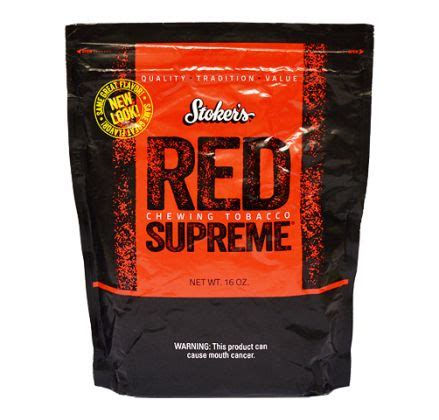 Stoker's Chewing Tobacco Red Supreme (16oz) - Hiland's Cigars