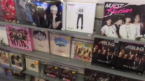 K-Pop in CD Warehouse and TV shop in New Town Plaza Hong