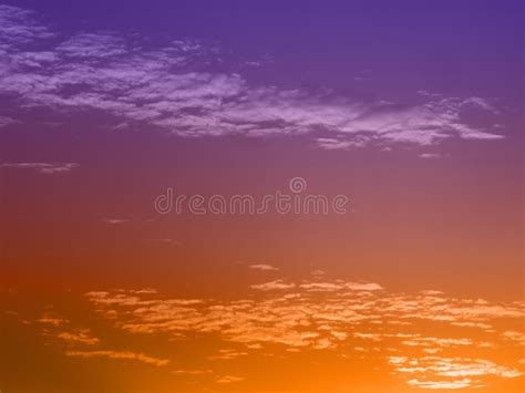 Evening Sky With Color Gradient Stock Image - Image of