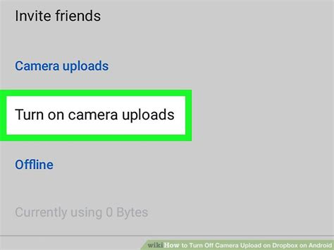 How to Turn Off Camera Upload on Dropbox on Android: 4 Steps