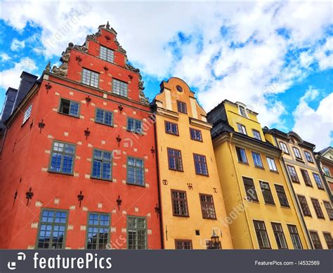 Colorful Buildings In Gamla Stan, Stockholm Stock Picture