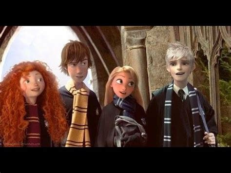 The Big Four (and Frozen?) in Hogwarts - YouTube