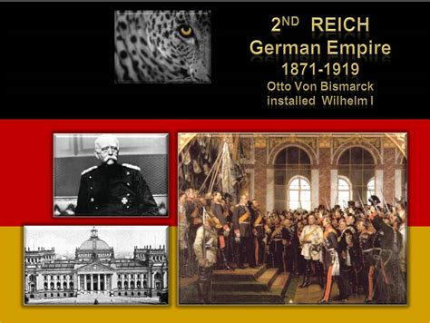 First Second Reich - Holy Roman Empire and Hohenzollern