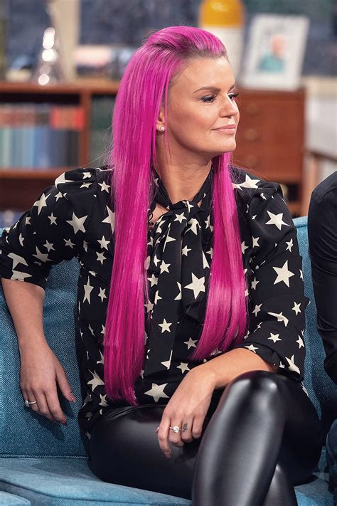 Kerry Katona at This Morning TV Show - Leather Celebrities